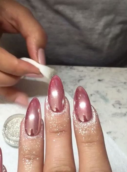 10 Stunning Chrome Nail Ideas To Rock The Latest Nail Trend: #5. Baby Pink Chrome Nails