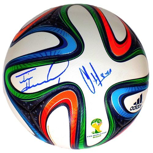 Tim Howard Clint Dempsey Signed Authentic 2014 WC Soccer Ball Steiner+SI