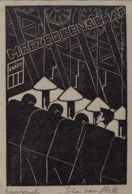 wood cut 'Meezeggenschap' (1929)