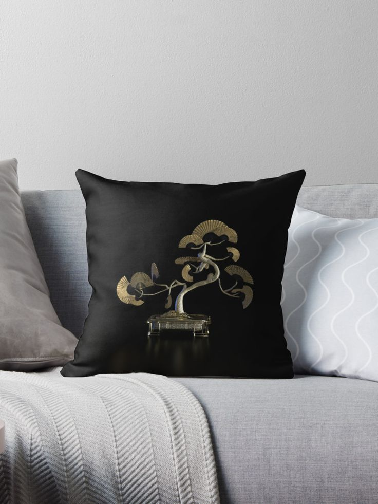 Oriental Fan Tree - Throw Pillow #throwpillow #cushioncover #oriental #asian #homedecor #orientalfan