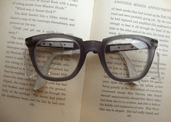 Perfect safety glasses. I wear these in the studio. Super Chic, Retro Vintage Non Prescription Safety Glasses with Removable / Adjustable Sides available https://www.etsy.com/listing/176230753/super-chic-retro-vintage-non?ref=listing-shop-header-1