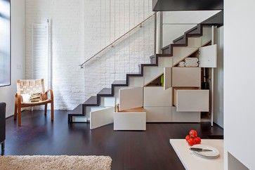 Manhattan Micro Loft - modern - staircase - austin - Specht Harpman Architects