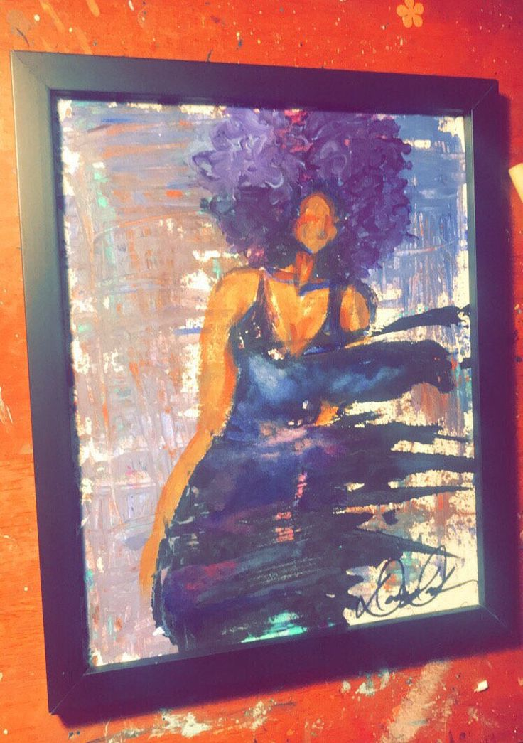 A personal favorite from my Etsy shop https://www.etsy.com/listing/581484045/black-art-afro-art-natural-hair-art