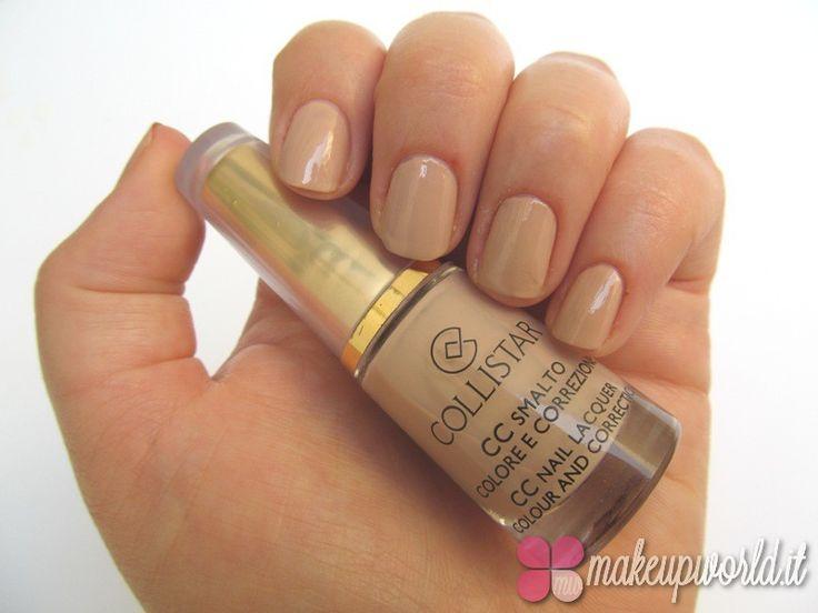 Swatch smalto CC Colore e Correzione collistar 653 Cipria by @makeupworldit
