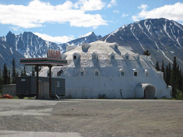 Cantwell Alaska Igloo City Originally Intended To Be A Hotel This Shaped
