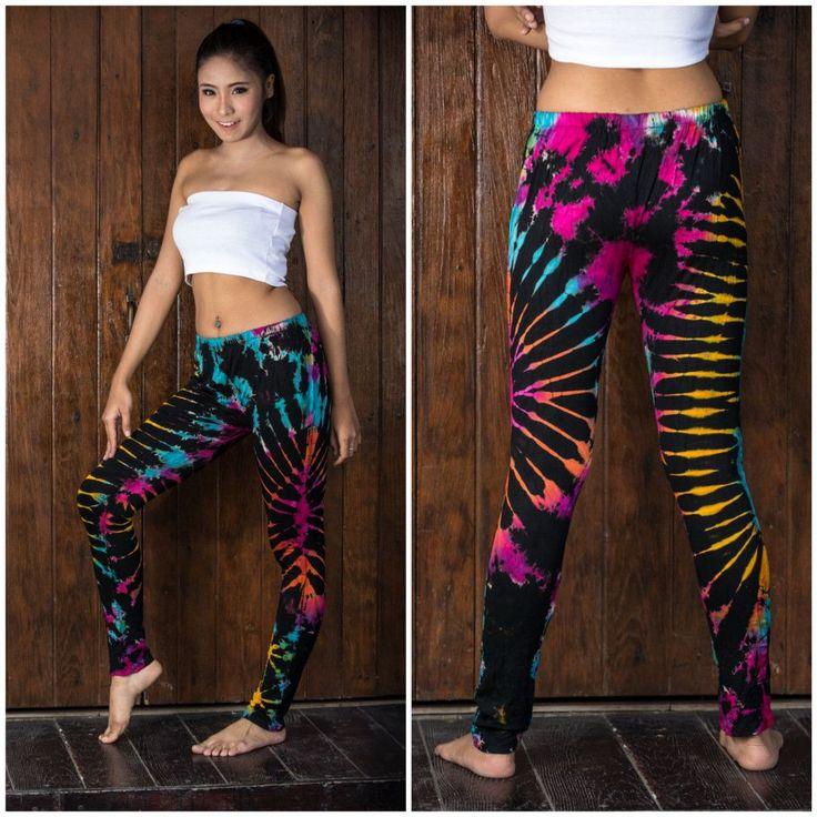 Sure Design Womens Super Soft Tie Dye Yoga Leggings