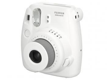 Câmera Instantânea Fujifilm Instax Mini 8 Branco - Flash Automático Foco Regulável