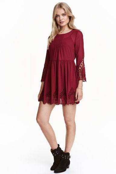 Chiffon jurk met kant | H&M