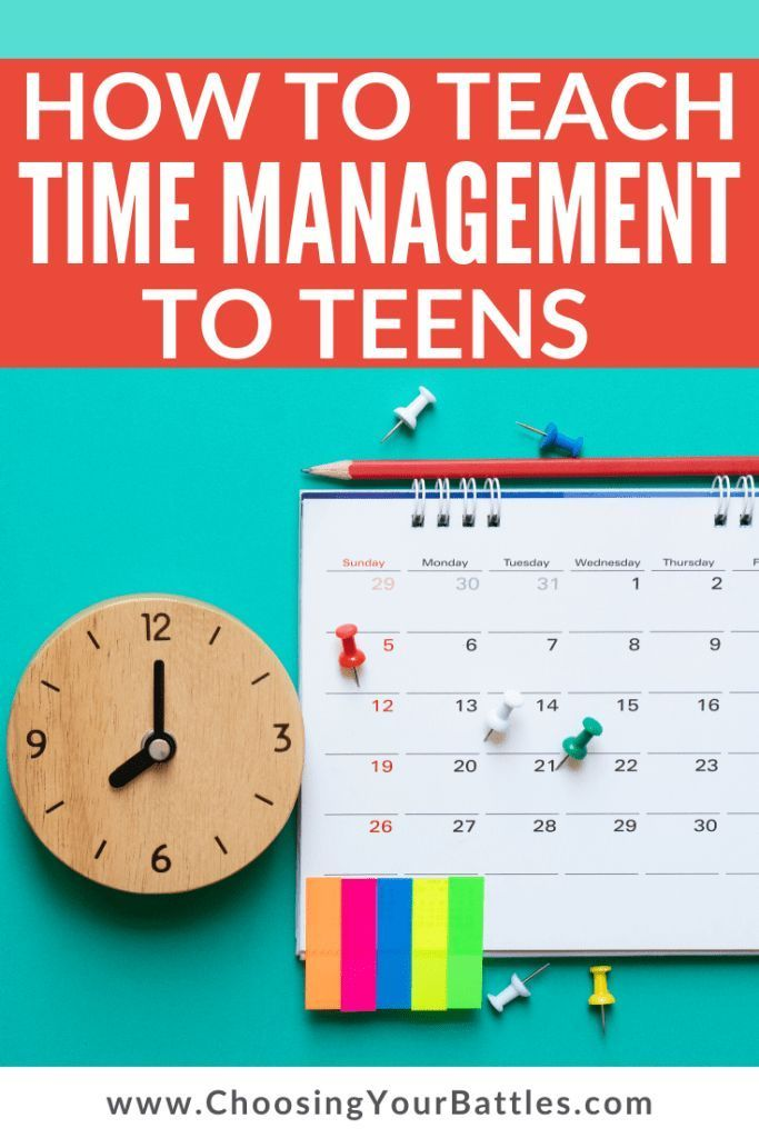 High School And Middle School Students Have So Many Demands On Their Time Help Them Learn Effective Time Management Strategies Wi Time Management Time Management Tools Effective Time Management