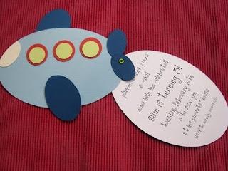airplane invitation idea for Colton's birthday