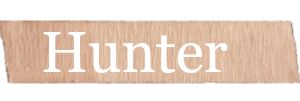 Hunter - One of the many fun #rustic and #country #babynames you will find on RusticBabyChic.com