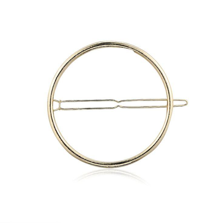 Lina - guld cirkelspænde