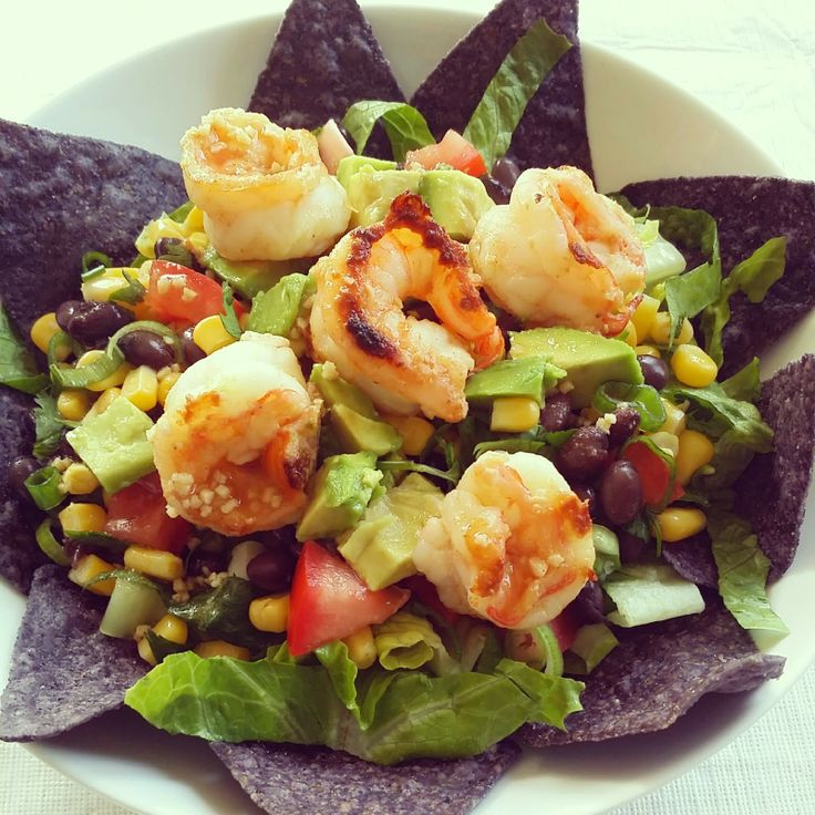 Southwestern Style Shrimp Taco Salad | EAT | Pinterest