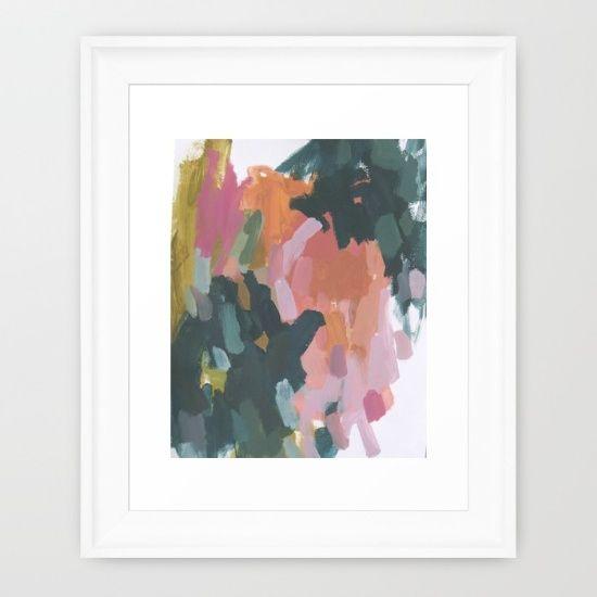 Carousel 2 Framed Art Print by Helen Dean Art - $42.00 #art #abstract #artwork #colorful
