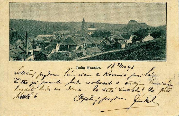 Dolní Kounice 1898