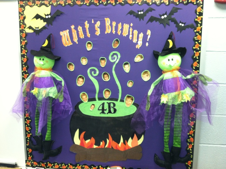 Classroom Decorating Ideas For Preschool ~ My bulletin board the two witches are me and mentor