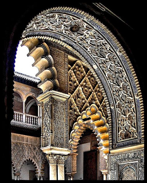 Originally a Moorish fort, Los Reales Alcazares de Sevilla is a royal palace in Seville, Spain.  It is the oldest royal palace still in use in Europe, and is a UNESCO World Heritage Site.  by CiccioNutella