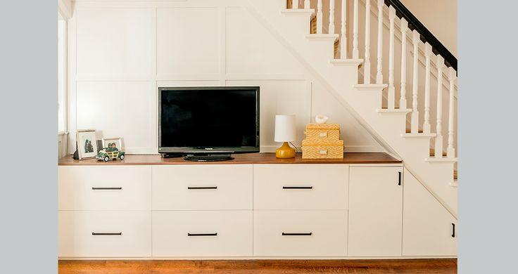 Fia Interiors Custom Millwork Design - Great use of under stair cubby!