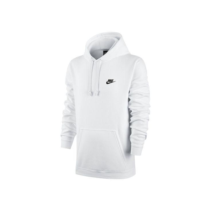 Men's Nike Club Fleece Pullover Hoodie, Size: Medium, White