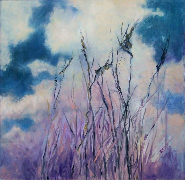 """Spighe II"" Oil on canvas - 100x100 cm"