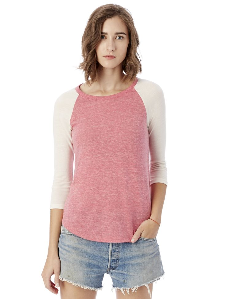 A men's inspired baseball tee made to fit for women. Crafted in our soft Eco Jersey for ultimate comfort and casual look. <span>Made in a WRAP-certified Factory</span>