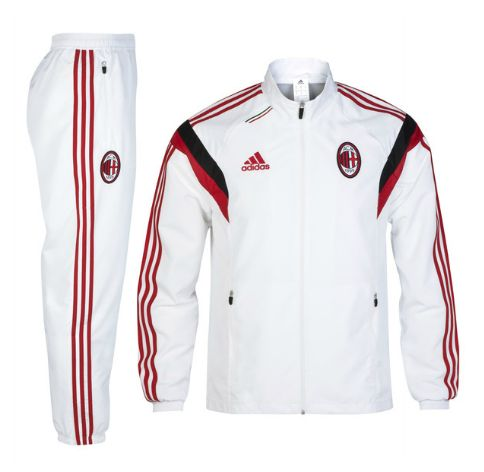 AC Milan Training Presentation Suit White AC Milan Official Merchandise Available at www.itsmatchday.com
