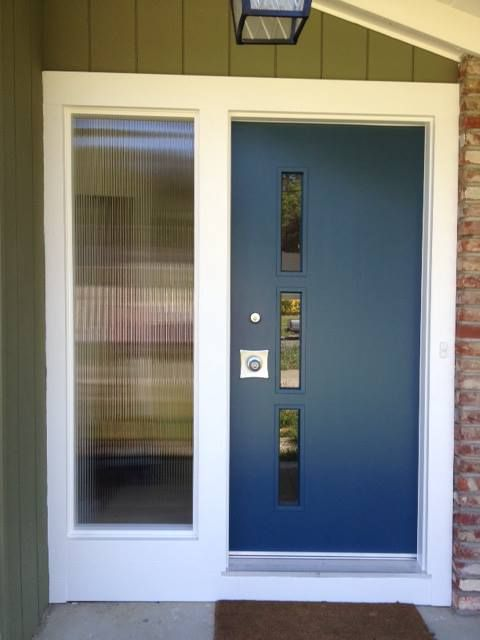 make your own affordable door lite kits for your front entry doors - Modern Glass Exterior Doors