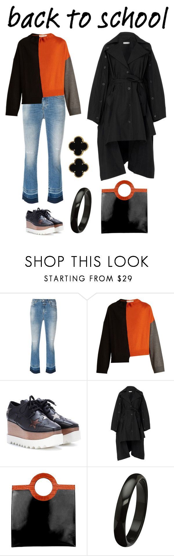 """Go Back-to-School Shopping!  College Days"" by karen-galves on Polyvore featuring Closed, Marni, STELLA McCARTNEY, palmer//harding, Givenchy, Van Cleef & Arpels and BackToSchool"