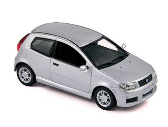 Norev 1:43 Fiat Punto Diecast Model Car 771078 This Fiat Punto Sporting (2003) Diecast Model Car is Silver and has working wheels and also comes in a display case. It is made by Norev and is 1:43 scale (approx. 8cm / 3.1in long).  #Norev #ModelCar #Fiat