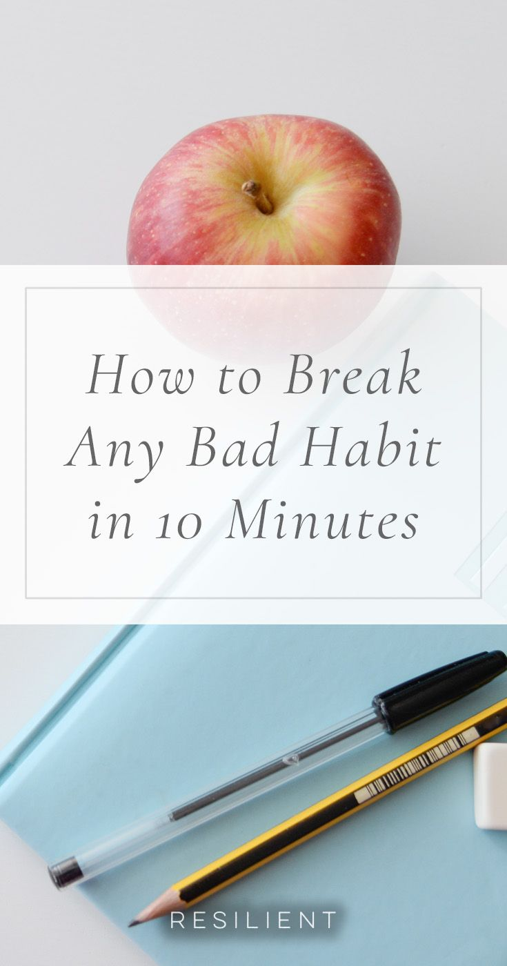 Perhaps you can't stop yourself from chewing your fingernails to pieces when you watch TV every evening. Or maybe you have a bad 4 pm donut habit you keep promising you'll drop but somehow never do. Whatever bad habits you're trying to shift, you can use the following simple technique to break any bad habit.