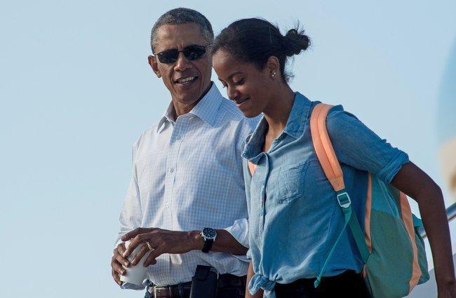 La fille d'Obama, Malia, reçoit une demande en mariage insolite