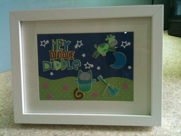 Nursery picture using Lettering Delights cut files