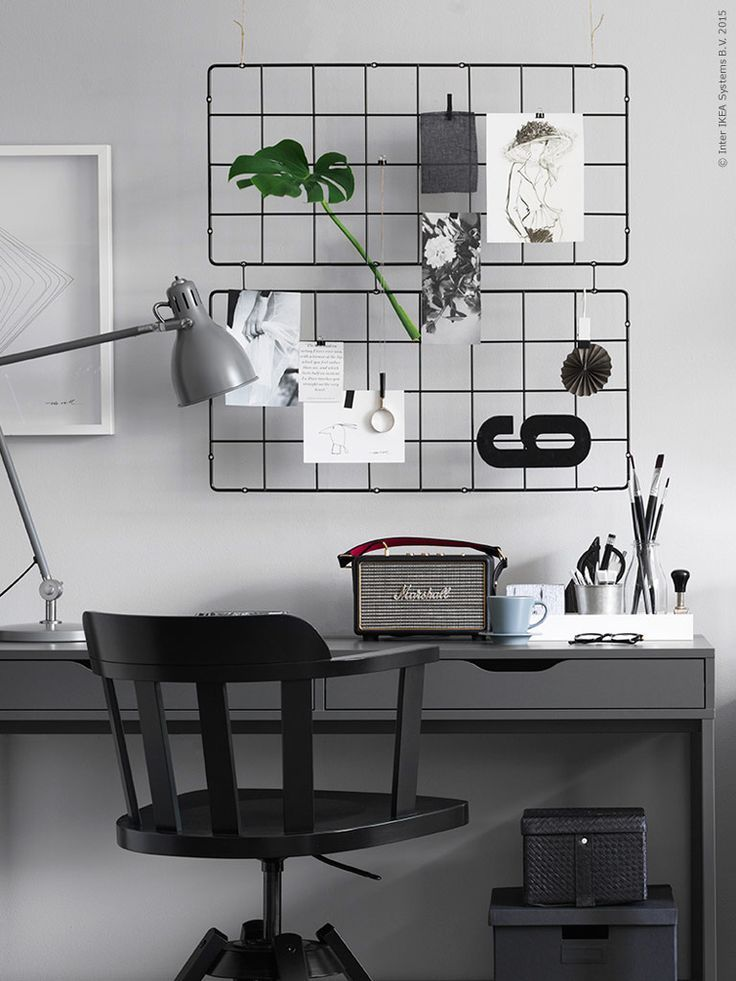 The 25 best ideas about ikea home office on pinterest for Bureau en pin ikea