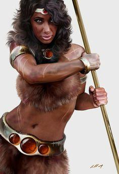 Diana - Megacurioso - Ilustrador brasileiro dá toque realista a personagens d'A Caverna do Dragão