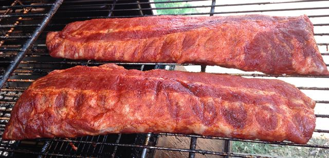 Memphis Style Rib Recipe | How to smoke Memphis Style Dry Rub Ribs. In Memphis Loin Back ribs rule. There are some places that serve spares, but true Memphis Style ribs are cut from the loin section of the hog.