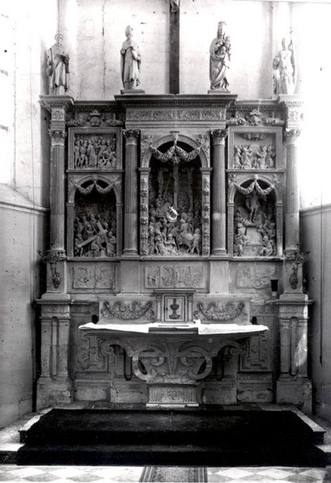 Bouilly (10), église paroissiale, autel adossé