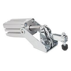 Sauterelle pneumatique :  l'utilisateur fait l'économie d'opérations de serrage répétitives. Il peut commander plusieurs sauterelles à la fois, et les fermer suivant un ordre prédéfini // Pneumatic clamp // REF 05331