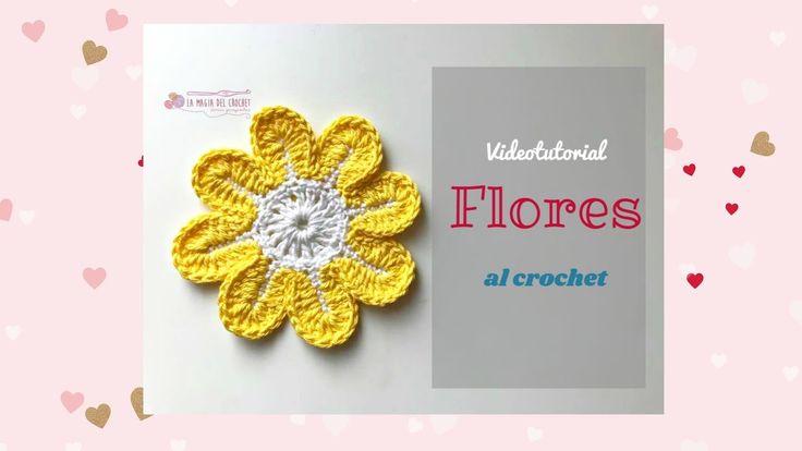 Cómo hacer flores de 8 petalos al crochet  -La Magia del Crochet- - YouTube