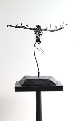 Lasse Nissilä: Kokkolintu (Kokko bird), 2013. Metal.