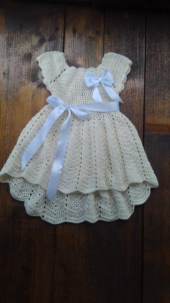 8bf01c0e3 crochet dresses for 6 months Blessing avery dress baptism gowns ...