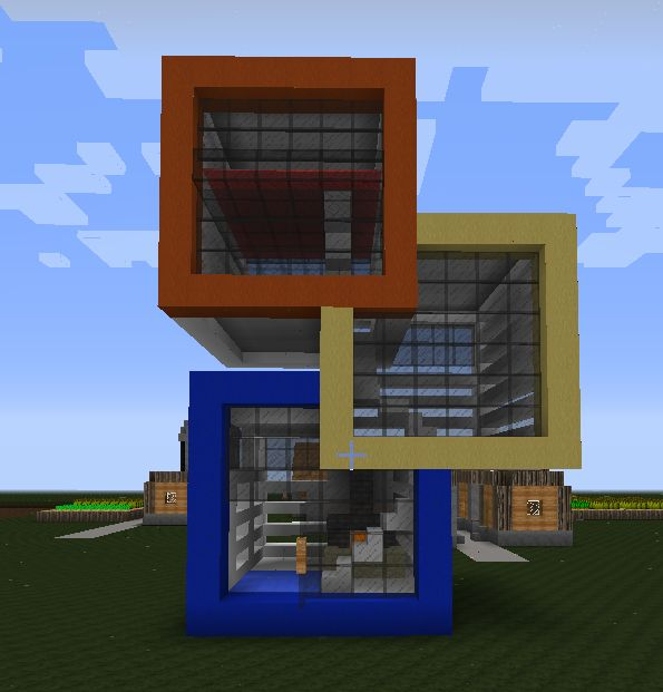 Cool mcpe house 39 s i might make a collection of geek ideas for Cool modern house ideas