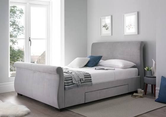 upholstered sleigh bed - Google Search