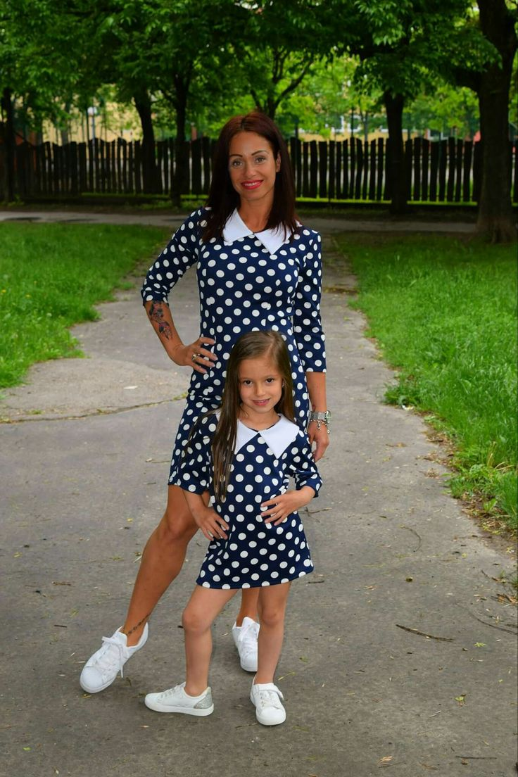 Apácagalléros pöttyös anya-lánya kollekció www.minniemes.com
