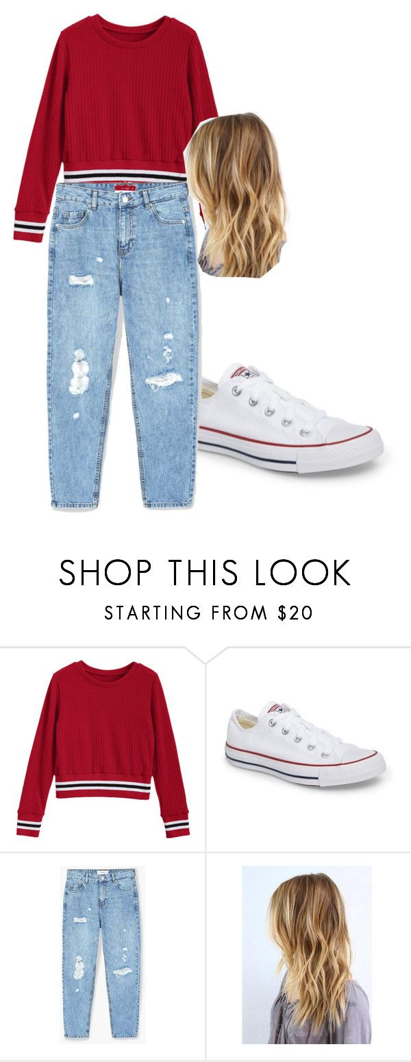 """""""School Approved outfit"""" by isizuniga on Polyvore featuring Converse and MANGO"""