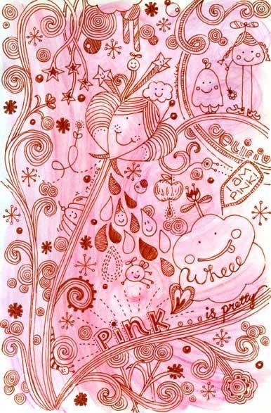 Pink doodling
