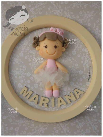 *SORRY, no information as to product used ~ Quadro de Maternidade 18 cm de diâmetro | Andreia  Akita | 2D8266 - Elo7