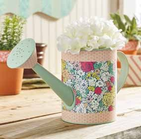 Watering Pail with Furniture Mod Podge