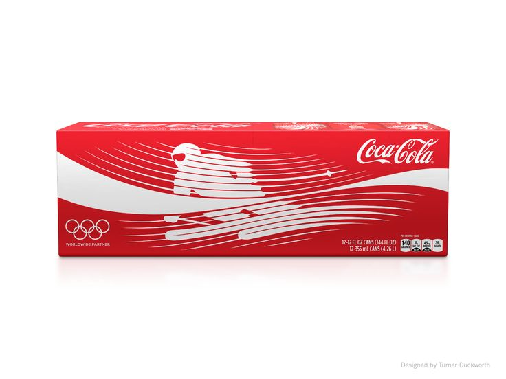 Coca-Cola 2014 Winter Olympics Packaging Design by Turner Duckworth