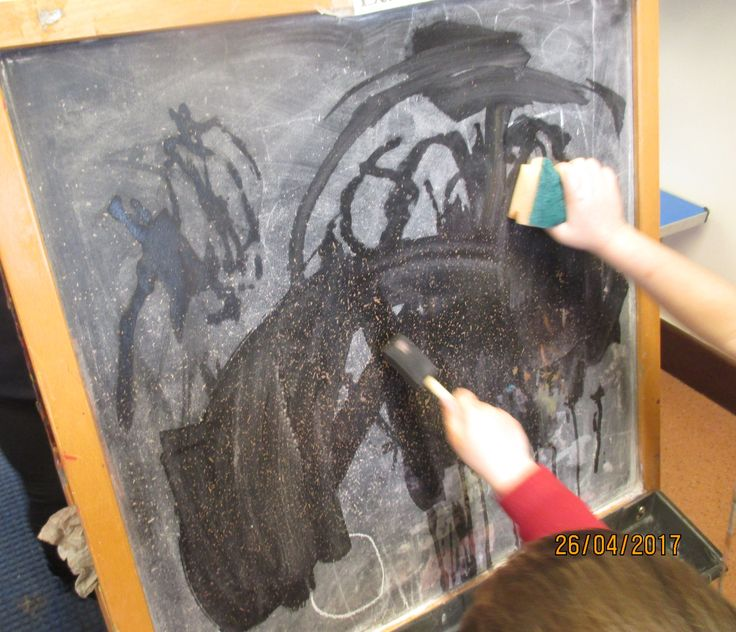 Painting on the easel