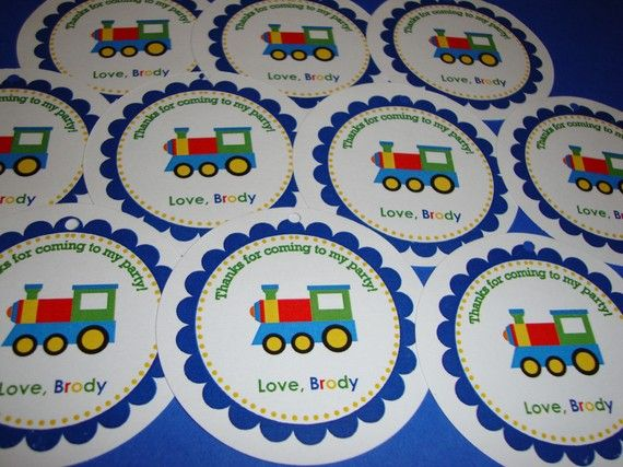 Choo Choo Train Favor Tags by CustomParty4U on Etsy, $6.00